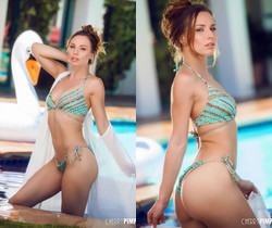 Aidra Fox Strips Down By The Pool - Cherry Pimps