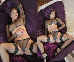 Roxy Mendez In Black Mesh - NuErotica