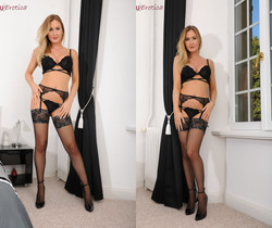Sammi Tye In Black Stockings - NuErotica