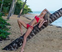 Gina Gerson - Red Bikini
