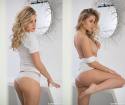 Candice Brielle - Beauty In White