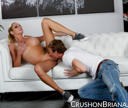 Briana Banks Gets A Hot Load Dropped On Her Tits