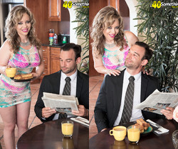 Mallory Taylor - Mallory makes her man later for work