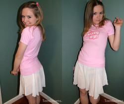 Teen Dreams - Kitty wears a shirt that says she's a virgin