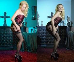 Briana Banks - Maroon Silk Blonde Bombshell