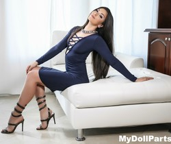 Kayla Jane Danger takes off her blue dress - My Doll Parts