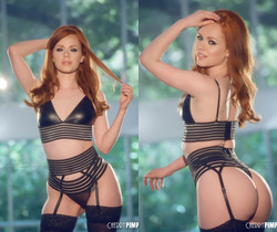 British Babe Ella Hughes in Stockings - Cherry Pimps