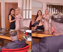 Cristina Miller, Amber Jayne - Cum Swap At The Office