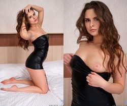 Amanda June - Tight Mini Dress - Nubiles