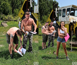 Cassie Del Isla - Outdoors Double Blowjob