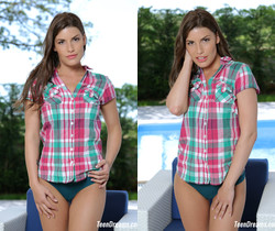 Teen Dreams - Jenny Appach in sexy plaid shirt and panties