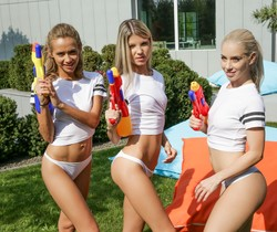 Nesty, Gina Gerson, Veronica Leal - Wet T-Shirts - 21Sextury