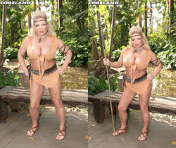 Rachel Love - Mamazon Rachel Gets A Jungle Threesome