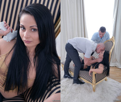 We Like To Suck - Russian hottie enjoys two cocks at once