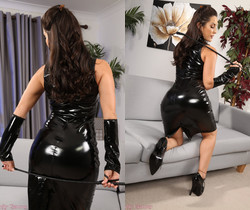 Emily J Pvc Dress - Strictly Glamour