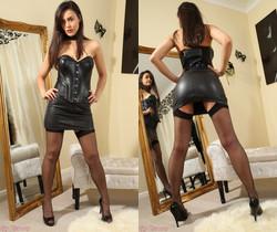 Maria Smith Leather Mini - Strictly Glamour