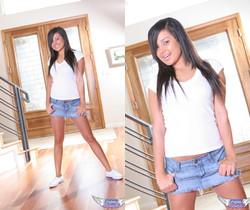 Samira Kiss - Tiny Jean Skirt - SpunkyAngels