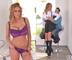 The Stud Relief - Large Cock Bangs Busty Brunette's Giant Ti