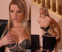 Bored & Horny: Hot Babe Seduces Boss & Client Into Threesome