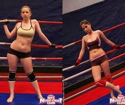 Nicole Sweet & Lexy Little - Girl on Girl - Nude Fight Club