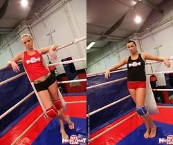 Dorina Gold & Melissa Ria - Girl on Girl - Nude Fight Club