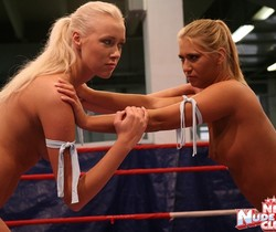 Linda Ray & Teena - Wrestling Girls - Nude Fight Club