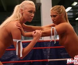 Linda Ray & Teena - Wrestling Girls - Nude Fight Club