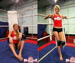 Antonya & Blanche - Lesbian Wrestling - Nude Fight Club