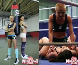 Betty Saint & Sinead - Lesbian Wrestling - Nude Fight Club