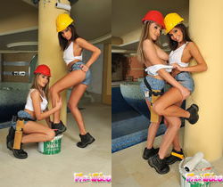 Kissy & Nelly Sullivan Playing Lesbians