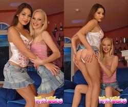 Zafira & Gitta Blond Hardcore Lesbians