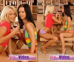Dorina & Angelina Crow Toying Lesbians