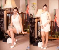 Ariel - White Stockings - Anilos