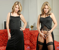 Janine - Black Stockings - Anilos