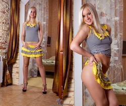 Anna F - blonde teeny plays with her dildo
