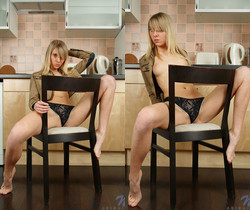 Abigail - nasty nudes in the kitchen
