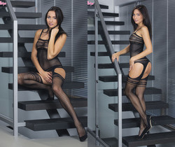 Michaela Isizzu Flaunts Her Aroused Body At The Stairs
