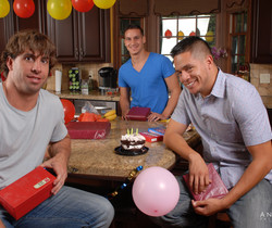 Angelina Valentine gets 2 guys for her BDay