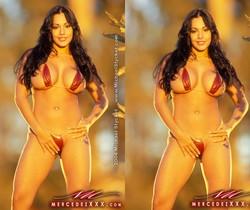 Nina Mercedez In her Red Bikini