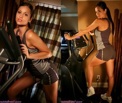 Janessa Brazil - Hot Brazilian Working Out in Spandex