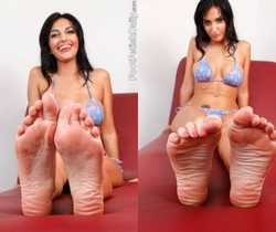 Amber Cox Offers Up Her Feet and Pussy to that Hard Cock