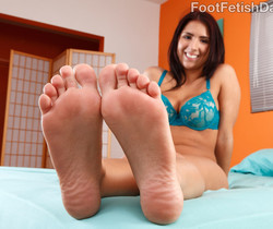 Evi Fox Gives a Footjob and Takes a Pussy Pounding
