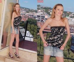 Angel Hott balcony nudes