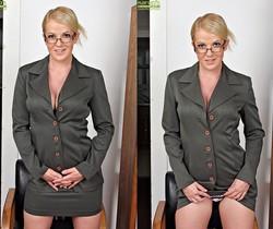 Anita Blue - bossy milf getting naked