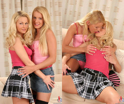 Natalli & Nikki Sun - Euro Girls on Girls
