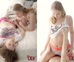Ariadna & Milana Fox - Euro Girls on Girls