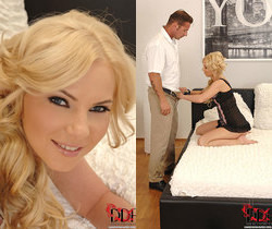 Angie Koks - blonde fucked in the ass