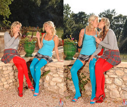 Gina & Laura Crystal - Hot Legs and Feet