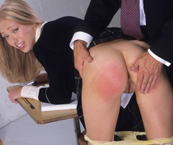 Adel getting spanked until her ass is red