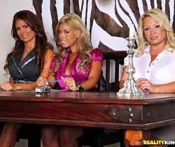 Bridgette B, Monique Fuentes & Rachel Love - CFNM Secret